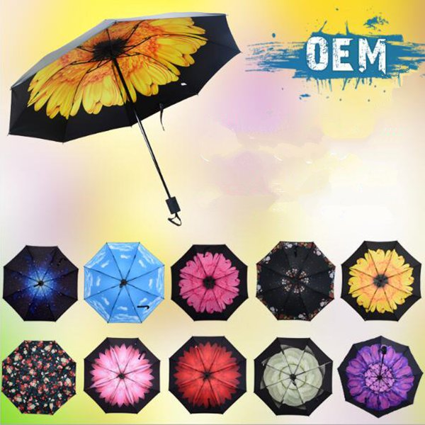 Fashional triple folding sunshade umbrella