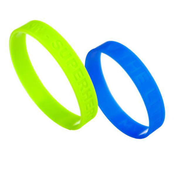 Silicone Wristbands with debossed/imprinted logo